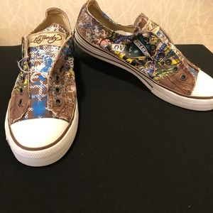 Ed Hardy Designs Sneakers. Slip on